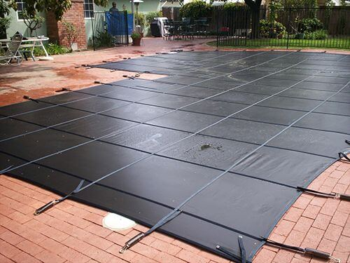 Black Mesh Pool Cover